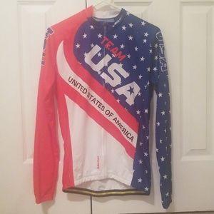 Mens USA Monton cycling Jersey size L